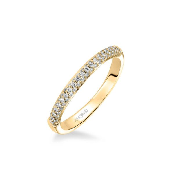 Ariel ArtCarved Pave Diamond Wedding Ring 31-V325