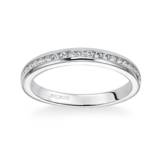 Amanda ArtCarved Channel Style Wedding Ring 31-V219L