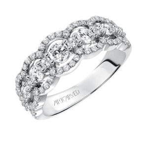 ArtCarved Contemporary Anniversary Band 33-V9134W