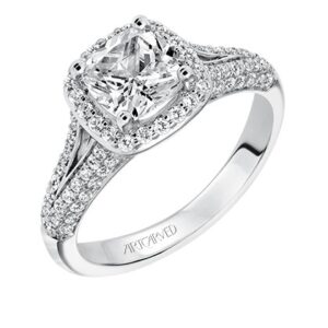 Ariel ArtCarved Halo Diamond Engagement Ring 31-V327E