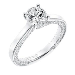 Astara ArtCarved Diamond Engagement Ring 31-V714E