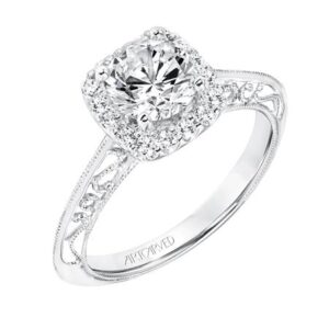 Audriana ArtCarved Diamond Engagement Ring 31-V725E