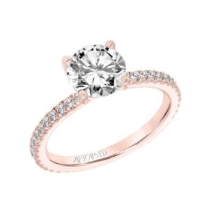 Aubrey ArtCarved Thin Diamond Engagement Ring 31-V803E