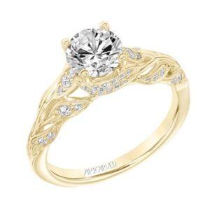 Camellia ArtCarved Engagement Ring 31-V844E