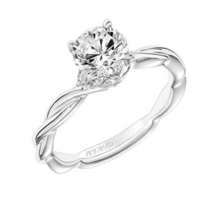 Aster ArtCarved Diamond Solitaire Engagement Ring 31-V845E
