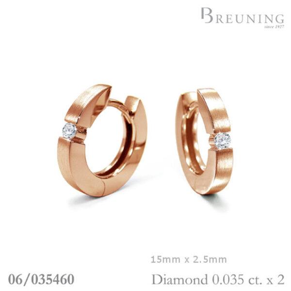 Breuning Diamond Huggies 06/03546 Rose Gold