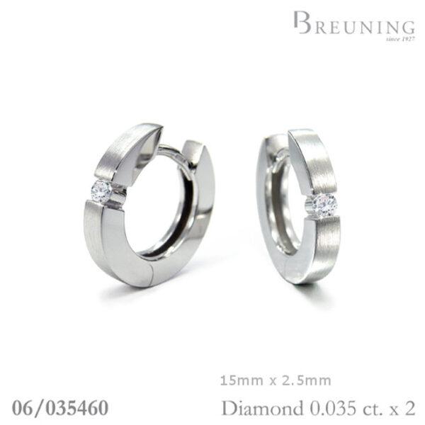 Breuning Diamond Huggies 06-03546 White Gold