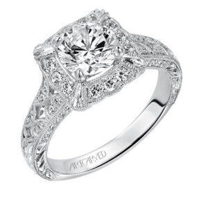 Alura ArtCarved Diamond Engagement Ring 31-V516E