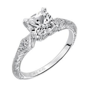 Angel ArtCarved Diamond Engagement Ring 31-V489E