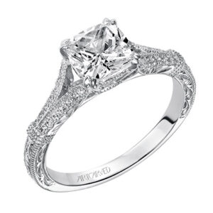 Angelina ArtCarved Diamond Engagement Ring 31-V494E