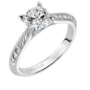 Cherry ArtCarved Engagement Ring 31-V517E