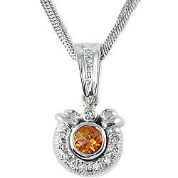 Fiery Citrine Diamond Pendant