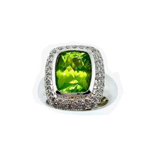 Peridot Diamond Ring CR02819